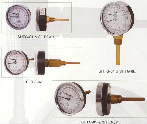 melhor Disque o calibre de 80mm Tridicator, calibre da temperatura para caldeiras