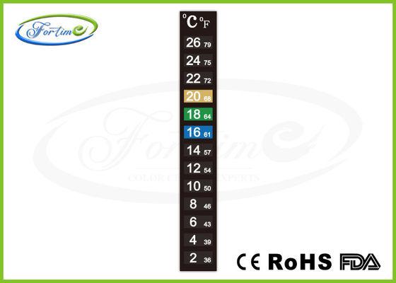 melhor Calor da elevada precisão - tira em mudança do termômetro da cor sensível para a temperatura ambiente da medida