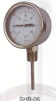 63mm - 160mm Stainless Steel Bimetal Thermometer For Beverage Industry